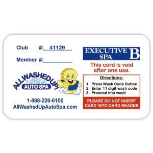 Fund Raising Card Executive Spa