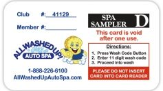 Fund Raising Spa Sampler Card