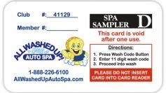 Fund Raising Spa Sampler Card