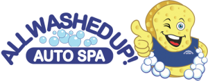 All Wash Up Auto Spa Sponge Gives A Thumbs Up While Wearing a T Shirt